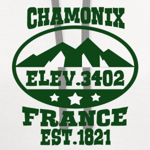 CHAM  FRANCE NATIONAL PARK - Contrast Hoodie