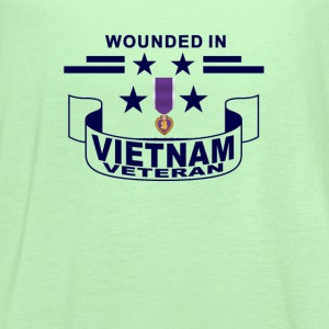 wouned_vietnam_veteran_tshirt_ - Women's Flowy Tank Top by Bella