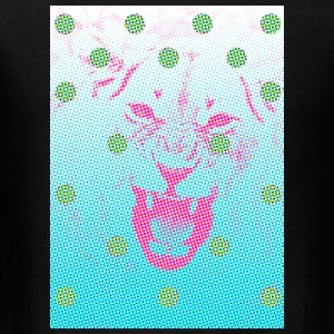Pixelated Lion Polka Dots - Men's T-Shirt