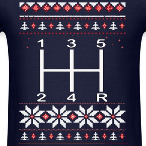 Gear Shifter Christmas Sweater! - Men's T-Shirt