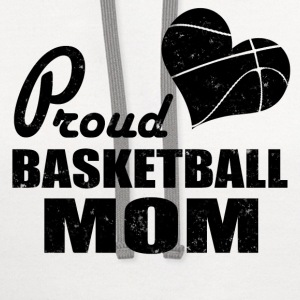 PROUD BASKETBALL MOM - Contrast Hoodie