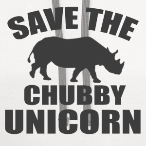 SAVE THE CHUBBY UNICORN - Contrast Hoodie