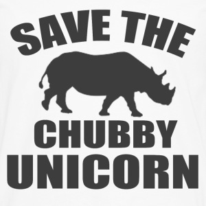 SAVE THE CHUBBY UNICORN - Men's Premium Long Sleeve T-Shirt
