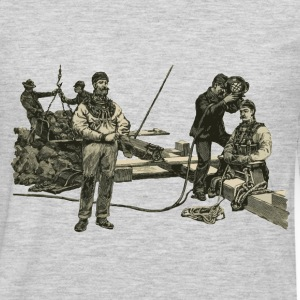 Vintage East River Divers with Diving Helmets - Men's Premium Long Sleeve T-Shirt
