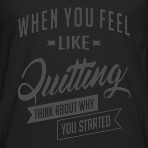 Started - Inspiration Quote. - Men's Premium Long Sleeve T-Shirt