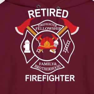 Retired firefighter T-Shirts - Men's Hoodie