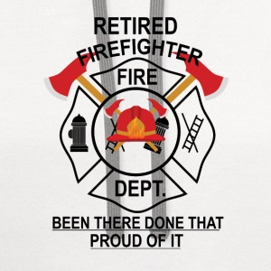 Retired Firefighter T-Shirts - Contrast Hoodie
