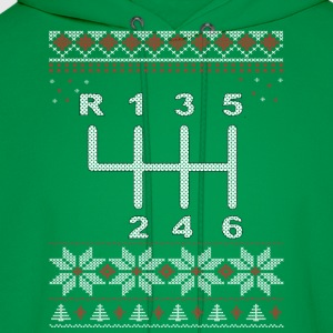 6 Speed Gear Shift Christmas T-Shirt - Men's Hoodie