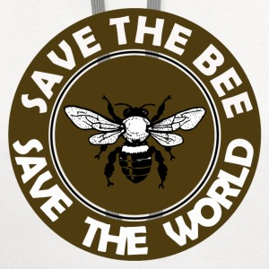 SAVE THE BEE SAVE THE WORLD - Contrast Hoodie