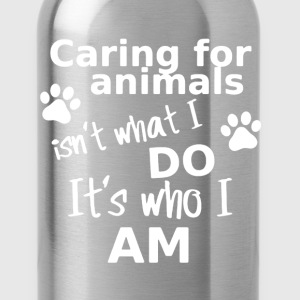 Caring For Animals Shirt - Water Bottle