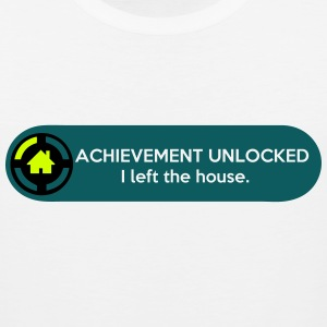 Achievement Unlocked - I left the house. (funny) T-Shirts - Men's Premium Tank