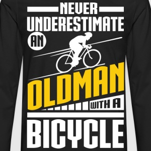 Old Man With Bicycle T-Shirts - Men's Premium Long Sleeve T-Shirt