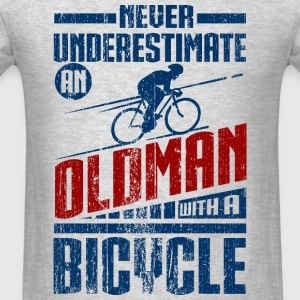Old Man With Bicycle Long Sleeve Shirts - Men's T-Shirt