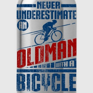 Old Man With Bicycle Long Sleeve Shirts - Water Bottle