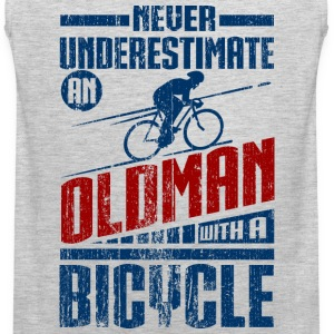 Old Man With Bicycle Long Sleeve Shirts - Men's Premium Tank