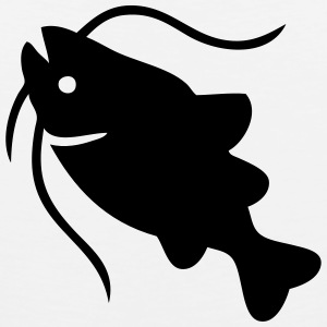 Catfish Silhouette T-Shirts - Men's Premium Tank