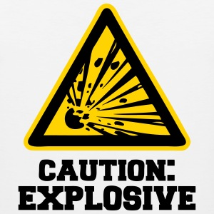 Caution: Explosive T-Shirts - Men's Premium Tank