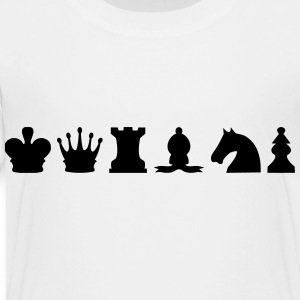 Chess Set (Pieces) Silhouettes Kids' Shirts - Toddler Premium T-Shirt