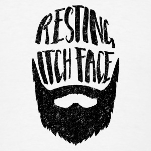 Resting Itch Face - Funny Beard PUn Other - Men's T-Shirt