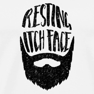 Resting Itch Face - Funny Beard PUn Other - Men's Premium T-Shirt