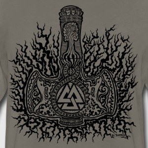 Mjolnir-Valknut T-Shirts - Men's Premium Long Sleeve T-Shirt