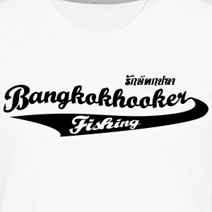 Bangkokhooker Baseball White-Burgundy - Men's Premium Long Sleeve T-Shirt