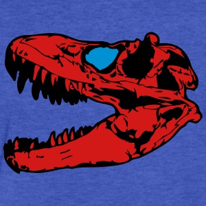 Dinosaur Skull Head Sweatshirts - Fitted Cotton/Poly T-Shirt by Next Level