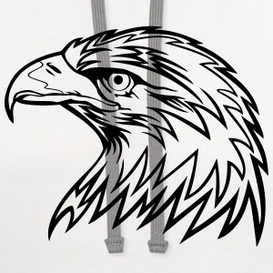 Eagle Head Art T-Shirts - Contrast Hoodie