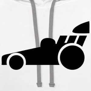 Dragster Race Car T-Shirts - Contrast Hoodie