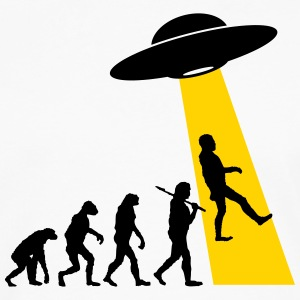 Evolution (UFO Abduction) T-Shirts - Men's Premium Long Sleeve T-Shirt