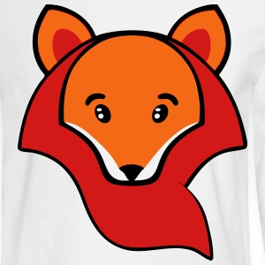 Cartoon Cute Fox Face Kids' Shirts - Men's Long Sleeve T-Shirt