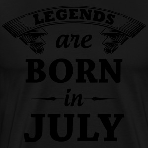 Legends Are Born In JULY T-Shirts - Men's Premium T-Shirt