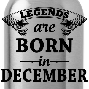 Legends are Born in December  T-Shirts - Water Bottle