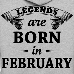 legends are born in FEBRUARY T-Shirts - Contrast Hoodie