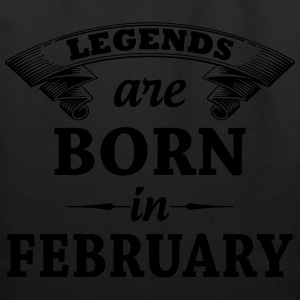 legends are born in FEBRUARY T-Shirts - Eco-Friendly Cotton Tote