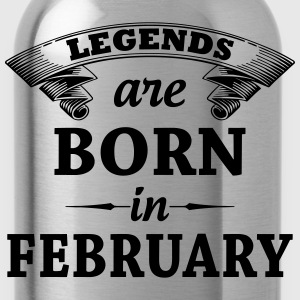 legends are born in FEBRUARY T-Shirts - Water Bottle