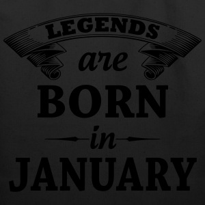 legends are born in JANUARY T-Shirts - Eco-Friendly Cotton Tote