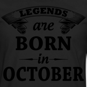 Legends Are Born In October T-Shirts - Men's Premium Long Sleeve T-Shirt