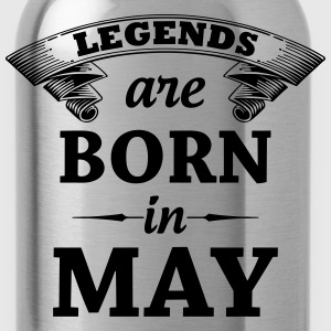 Legends are Born in May T-Shirts - Water Bottle
