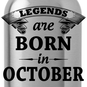 Legends Are Born In October T-Shirts - Water Bottle