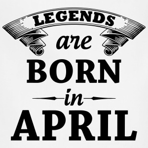 Legends are Born in April  T-Shirts - Adjustable Apron