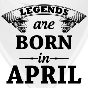 Legends are Born in April  T-Shirts - Bandana