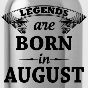 Legends are Born in August  T-Shirts - Water Bottle