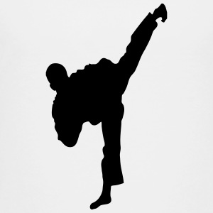 Taekwondo High Kick Silhouette Kids' Shirts - Toddler Premium T-Shirt