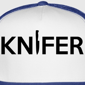 Knifer (Knife Symbol) Game Art T-Shirts - Trucker Cap