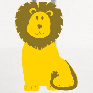 Cute Cartoon Lion Kids' Shirts - Contrast Hoodie