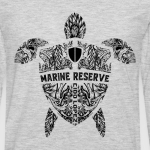 Marine Turtle Graphic Art - Men's Premium Long Sleeve T-Shirt