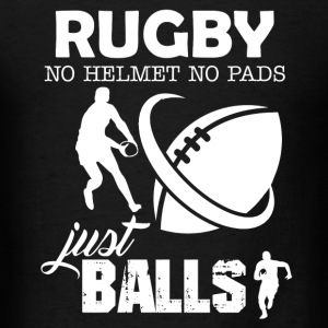 Rugby No Helmet No Pads - Men's T-Shirt