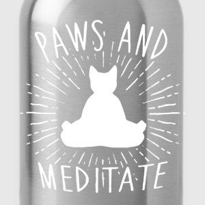 Paws And Meditate Shirt - Water Bottle
