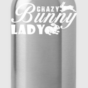 Crazy Bunny Lady - Water Bottle